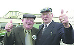 President McAlleese's father Paddy Lenihan briefly swopped caps with ebullient South Kerry TD Jackie Healy-Rae when the men bumped into each other in  Killarney on Thursday. Mr. Lenihan was holidaying in the Gleneagle Hotel while the deputy was canvassing arounf the town. Howevver the famous tartan cap did not make its way up North on this occassion..Picture by Don MacMonagle Jackie Healy-Rae, TD from the book by Don MacMonagle entitled 'Jackie - Keeping Up Appearances' published in 2002.