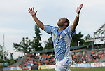 19 May 2012: Puerto Rico's Jonathan Fana (DOM) celebrates scoring the game's first goal. The Carolina RailHawks and the Puerto Rico Islanders played to a 1-1 tie at WakeMed Soccer Stadium in Cary, NC in a 2012 North American Soccer League (NASL) regular season game.