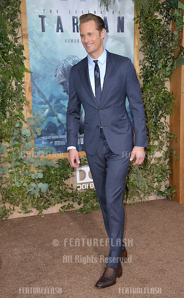 LOS ANGELES, CA. June 27, 2016: Actor Alexander Skarsgard at the world premiere of &quot;The Legend of Tarzan&quot; at the Dolby Theatre, Hollywood.<br /> Picture: Paul Smith / Featureflash