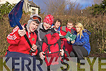 PREPARED FOR TRAVEL: IT students are prepared for artic conditions as they prepare to travel to XXXX for their class trip on Thursday (today). From front l-r were: Gerald McNamara and Lorna Cooper. Back l-r were Darren Kenny, Kevin Harnett and Edel Fitzpatrick.