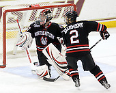 Chris Rawlings (NU - 37), Drew Ellement (NU - 2) - The Boston College Eagles defeated the Northeastern University Huskies 5-1 on Saturday, November 7, 2009, at Conte Forum in Chestnut Hill, Massachusetts.