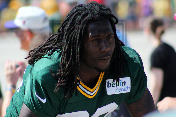 GREEN BAY - AUGUST 2011: Erik Walden (93) of the Green Bay Packers prior to a Training Camp practice on August 7, 2012 at Ray Nitschke Field in Green Bay, Wisconsin. (Photo by Brad Krause).  .www.krausesportsphotography.com
