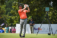 Jon Rahm (ESP) watches his tee shot on 8 during round 3 of the WGC FedEx St. Jude Invitational, TPC Southwind, Memphis, Tennessee, USA. 7/27/2019.<br /> Picture Ken Murray / Golffile.ie<br /> <br /> All photo usage must carry mandatory copyright credit (© Golffile | Ken Murray)