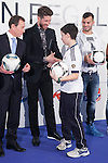 Real Madrid´s Institutional Relationships President Emilio Butragueno and players Sergio Ramos and Jese attend the `Ningun nino sin regalo´ campaign in Madrid, Spain. January 05, 2015. (ALTERPHOTOS/Victor Blanco)
