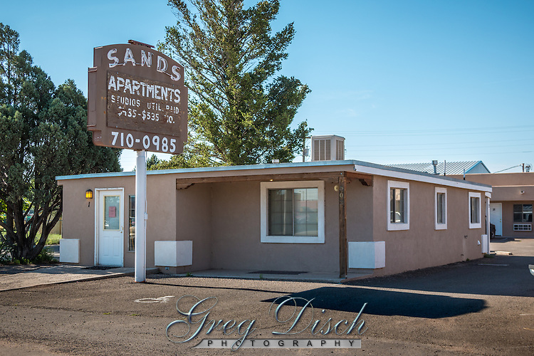 The Old Sands Motel Route 66 Moriarty New Mexico is now a apartments.