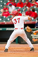 John Cannon #37 of the Houston Cougars at bat against the Baylor Bears at Minute Maid Park on March 4, 2011 in Houston, Texas.  Photo by Brian Westerholt / Four Seam Images