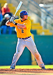 19 April 2009: University at Albany Great Danes' outfielder Dave West, a Senior from Toms River, NJ, at bat against the University of Vermont Catamounts at Historic Centennial Field in Burlington, Vermont. The Great Danes defeated the Catamounts 9-4 in the second game of a double-header. Sadly, the Catamounts are playing their last season of baseball, as the program has been marked for elimination due to budgetary constraints on the University. Mandatory Photo Credit: Ed Wolfstein Photo