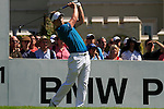 Overnight leader, Luke Donald, tees off from the 1st tee to start  Round 3 of the BMW PGA Championship at  Wentworth, Surrey, England, 22nd May 2010...Photo Golffile/Eoin Clarke.(Photo credit should read Eoin Clarke www.golffile.ie)....This Picture has been sent you under the condtions enclosed by:.Newsfile Ltd..The Studio,.Millmount Abbey,.Drogheda,.Co Meath..Ireland..Tel: +353(0)41-9871240.Fax: +353(0)41-9871260.GSM: +353(0)86-2500958.email: pictures@newsfile.ie.www.newsfile.ie.