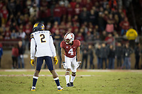 STANFORD, CA - November 18, 2017: Jay Tyler at Stanford Stadium. The Stanford Cardinal defeated Cal 17-14 to win its eighth straight Big Game.