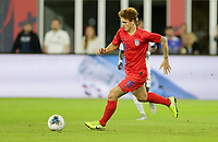 WASHINGTON, D.C. - OCTOBER 11: Josh Sargent #19 of the United States passes off the ball during their Nations League game versus Cuba at Audi Field, on October 11, 2019 in Washington D.C.