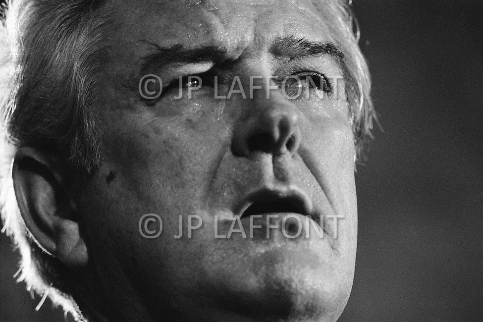 September 27th 1971, Washington, DC, USA. The Former Texas Governor John Connally at a General Assembly of the International Monetary Fund (IMF) in 1971. In July 1944, representatives from 44 countries assembled at Bretton Woods, USA agreed to create the IMF in order to stabilize the increasingly delicate world economy. In August 1971, American President Richard Nixon (1969-1974) scrapped the gold exchange standard, extending the life of the IMF but pushing it into a secondary role. Only at the beginning of the 1980s, following the crisis of the Third World debt, was the IMF called on again to play a major role in world economy. Connally was appointed as US Treasury Secretary by Nixon the day after the meeting.