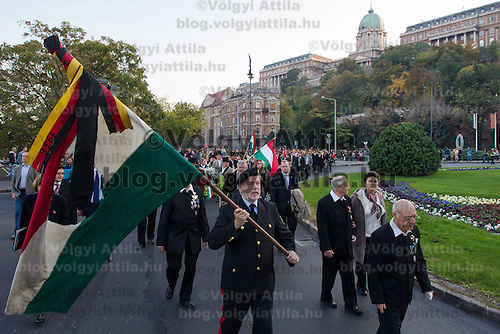 Participants commemorate the 56th anniversary of Hungary's revolution of 1956 in Budapest, Hungary on October 22, 2012. ATTILA VOLGYI