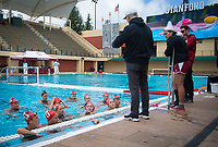 STANFORD, CA - April 20, 2019: John Tanner, Team at Avery Aquatic Center. The #1 Stanford Cardinal took down the #20 San Jose State Spartans 22-4.