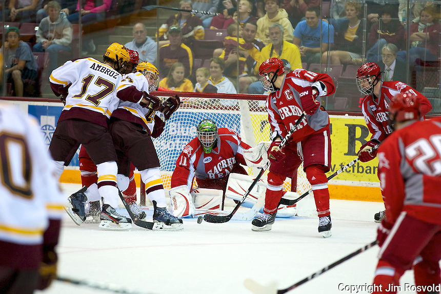 8 Oct 10:  Andrew Bodnarchuk (Sacred Heart - 35)  The University of Minnesota plays host to Sacred Heart in a non-conference matchup at Mariucci Arena in Minneapolis, MN.