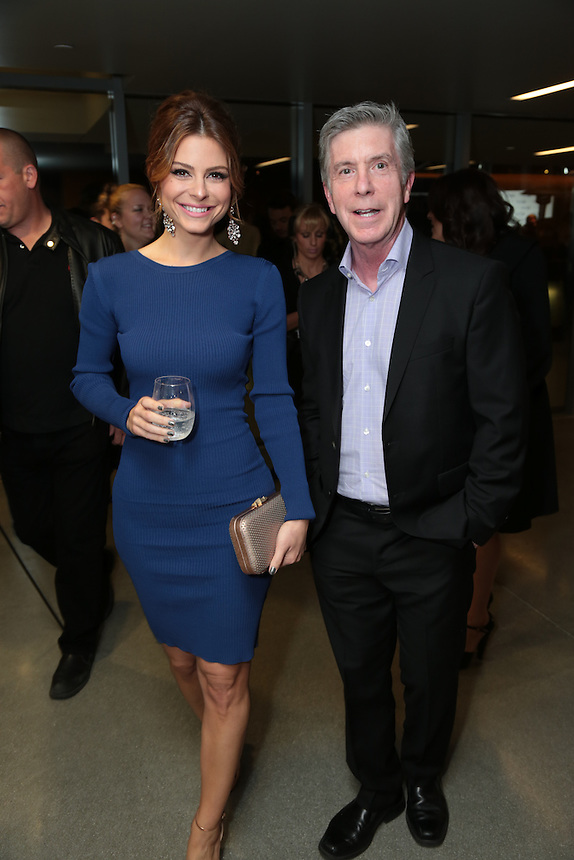 Maria Menounos and Tom Bergeron attend the Emerson College Los Angeles Campus Opening Night Gala at Emerson College - Los Angeles in Los Angeles, CA on Monday, March 3, 2014<br /> (Alex J. Berliner/ABImages)