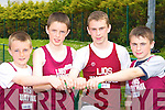 Listowel relay team at the Kerry Athletic Championships in Castleisland on Sunday was l-r: Jack Galvin, Stephen Foley, Jeremy Lynch and John Lynch   Copyright Kerry's Eye 2008