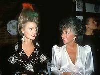 Gloria, Princess of Thurn and Taxis & Liz Taylor<br /> 1986<br /> Photo By Adam Scull/PHOTOlink.net