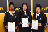 Netball finalists Jessica Bourke, Tera-Maria Amani and Erikana Pederson. ASB College Sport Young Sportsperson of the Year Awards held at Eden Park, Auckland, on November 24th 2011.