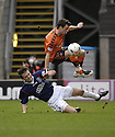 23/02/2008    Copyright Pic: James Stewart.File Name : sct_jspa09_dundeee_utd_v_falkirk.KEVIN MCBRIDE CHALLENGES DANNY SWANSON.James Stewart Photo Agency 19 Carronlea Drive, Falkirk. FK2 8DN      Vat Reg No. 607 6932 25.Studio      : +44 (0)1324 611191 .Mobile      : +44 (0)7721 416997.E-mail  :  jim@jspa.co.uk.If you require further information then contact Jim Stewart on any of the numbers above........
