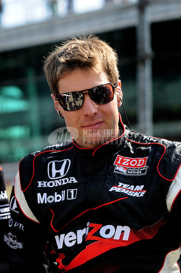 May 28, 2010; Indianapolis, IN, USA; IndyCar Series driver Will Power during carb day prior to the Indianapolis 500 at the Indianapolis Motor Speedway. Mandatory Credit: Mark J. Rebilas-