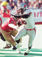 Cory Philpot BC Lions running back 1996. Copyright photograph Scott Grant