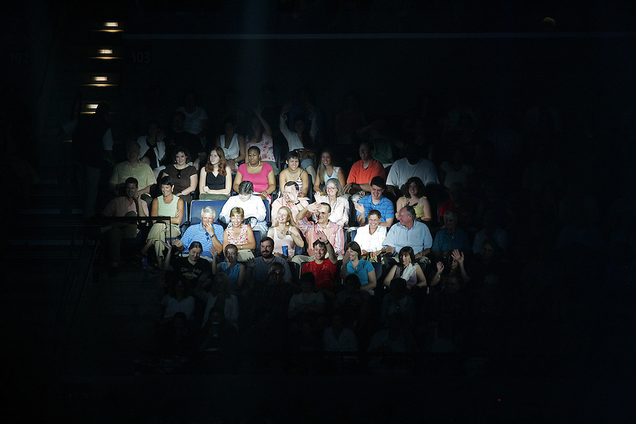 Thousands attend Cirque Du Sole, the opening venue at the newly constructed John Paul Jones arena 8-01-06.