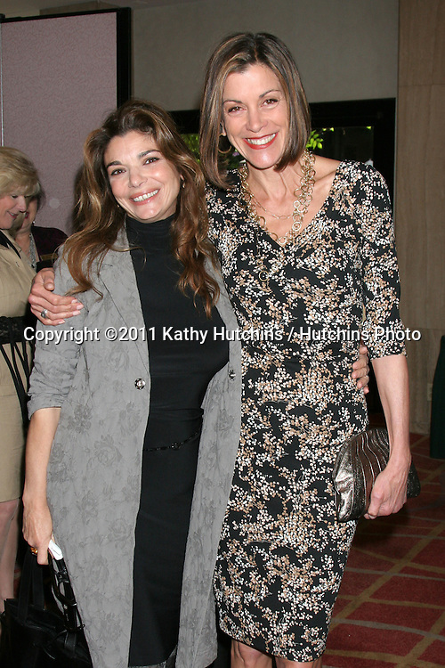 "LOS ANGELES - APR 9:  Laura San Giacomo, Wendie Malick in the green room of ""Actors and Others for Animals"" Annual Fundraiser 2011 at Universal Hilton Hotel on April 9, 2011 in Los Angeles, CA"
