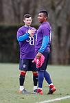 06.04.2018 Rangers training:<br /> Alfredo Morelos and Jason Holt