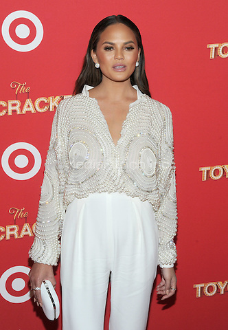 NEW YORK, NY - DECEMBER 07: Chrissy Teigen  attends Target Presents 'The Toycracker' Premiere Event at Spring Studios on December 7, 2016 in New York City.Photo by John Palmer/MediaPunch