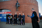 Memorial to the victims of the Ibrox disaster of 1971 at the John Greig Statue, Ibrox Stadium:<br /> Sandy Easdale, Colin Stein, James Easdale, Kenny McDowall and Jim Hannah and Rev Stuart McQuarrie