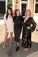 LOS ANGELES - JUN 14:  Shay Mitchell, I. Marlene King, Sasha Pieterse at the Made Here exhibit preview at the Warner Brothers Studio on June 14, 2017 in Burbank, CA