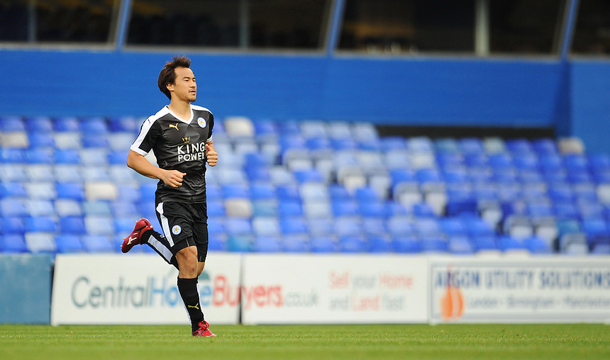 Leicester City&rsquo;s Shinji Okazaki makes his way onto the pitch as a second half substitute<br /> <br /> Photographer Kevin Barnes/CameraSport<br /> <br /> Football - Pre-Season Friendly - Birmingham City v Leicester City - Saturday 1st August 2015 - St Andrew's - Birmingham<br /> <br /> &copy; CameraSport - 43 Linden Ave. Countesthorpe. Leicester. England. LE8 5PG - Tel: +44 (0) 116 277 4147 - admin@camerasport.com - www.camerasport.com