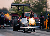 May 31, 2019; Joliet, IL, USA; NHRA top alcohol dragster driver Jasmine Salinas during qualifying for the Route 66 Nationals at Route 66 Raceway. Mandatory Credit: Mark J. Rebilas-USA TODAY Sports