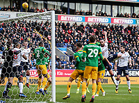 Bolton Wanderers' Marc Wilson heads over the bar<br /> <br /> Photographer Andrew Kearns/CameraSport<br /> <br /> The EFL Sky Bet Championship - Bolton Wanderers v Preston North End - Saturday 9th February 2019 - University of Bolton Stadium - Bolton<br /> <br /> World Copyright &copy; 2019 CameraSport. All rights reserved. 43 Linden Ave. Countesthorpe. Leicester. England. LE8 5PG - Tel: +44 (0) 116 277 4147 - admin@camerasport.com - www.camerasport.com