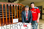 Cathaoirleach of Kerry County Council Michael D O'Shea and member of the public Gary Dineen from Scartaglen signed the BOOK of Condolence for the late Anthony Foley which was opened by Kerry County Council at the County buildings on Monday