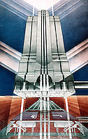 Helmut Jahn: North Western Terminal, Chicago Rendering.  (Arbitare, July-August 1987.)