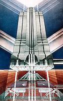 Helmut Jahn: North Western Terminal, Chicago Rendering.  (Arbitare, July-August 1987.)