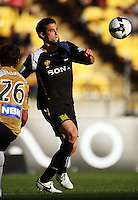 Daniel lines up a shot during the A-League match between Wellington Phoenix and Newcastle Jets at Westpac Stadium, Wellington, New Zealand on Sunday, 4 January 2009. Photo: Dave Lintott / lintottphoto.co.nz