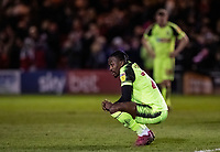 Bolton Wanderers' Joe Dodoo in despair at the end of the match <br /> <br /> Photographer Andrew Kearns/CameraSport<br /> <br /> The EFL Sky Bet League One - Lincoln City v Bolton Wanderers - Tuesday 14th January 2020  - LNER Stadium - Lincoln<br /> <br /> World Copyright © 2020 CameraSport. All rights reserved. 43 Linden Ave. Countesthorpe. Leicester. England. LE8 5PG - Tel: +44 (0) 116 277 4147 - admin@camerasport.com - www.camerasport.com