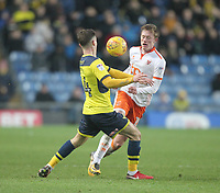 Blackpool's Sean Longstaff battles with Oxford United's Michael Williamson<br /> <br /> Photographer Mick Walker/CameraSport<br /> <br /> The EFL Sky Bet League One - Rochdale v Blackpool - Monday 1st January 2018 - Spotland Stadium - Rochdale<br /> <br /> World Copyright &copy; 2018 CameraSport. All rights reserved. 43 Linden Ave. Countesthorpe. Leicester. England. LE8 5PG - Tel: +44 (0) 116 277 4147 - admin@camerasport.com - www.camerasport.com