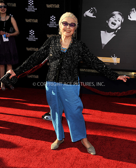 WWW.ACEPIXS.COM......April 25, 2013, Los Angeles, CA.....Marge Champion arriving at the 2013 TCM Classic Film Festival Opening Night Gala screening of 'Funny Girl' at the TCL Chinese Theatre on April 25, 2013 in Hollywood, CA.............By Line: Peter West/ACE Pictures....ACE Pictures, Inc..Tel: 646 769 0430..Email: info@acepixs.com