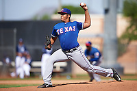 Texas Rangers pitcher Kenny Mendoza (39) during an Instructional League game against the San Diego Padres on October 3, 2016 at the Peoria Sports Complex in Peoria, Arizona.  (Mike Janes/Four Seam Images)