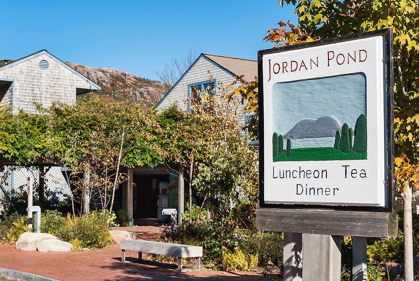 Jordan Pond Restaurant, Acadia National Park, Mt, Desert Island, Maine, USA