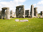 World Heritage henge neolithic site of standing stones at Stonehenge, Amesbury, Wiltshire, England, UK