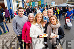 Lorcan Burke, Jean Earlie, Kate Nicholas, Pia Nicholas and Mike Nicholas with Joyce Earlie, pictured at the Dingle Food Festival on Saturday last.