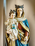 Madonna statue, Vinci, Tuscano, Italy