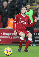 Andrew Robertson of Liverpool during the Premier League match between Swansea City and Liverpool at the Liberty Stadium, Swansea, Wales on 22 January 2018. Photo by Mark Hawkins / PRiME Media Images.