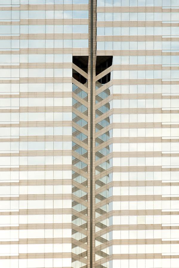 Detail of skyscraper, Renaissance Harbour View Hotel, Hong Kong SAR, China, Asia