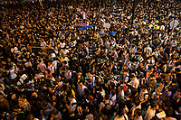 Civil servants gather to protest the Hong Kong government's refusal to fully withdraw its controversial extradition bill, Hong Kong, China, 02 August 2019.
