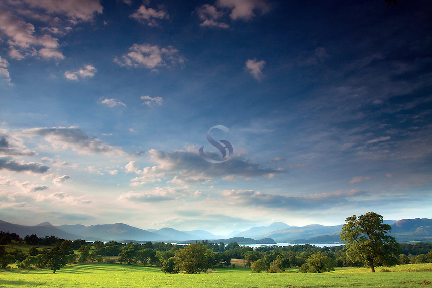 Loch Lomond, Ben Lomond and the Luss Hills, from Gartocharn, Loch Lomond and the Trossachs National Park, Argyll & Bute